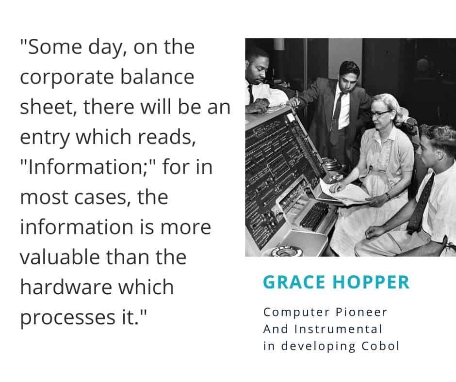 Grace Hopper predicts data will be an asset on the balance sheet