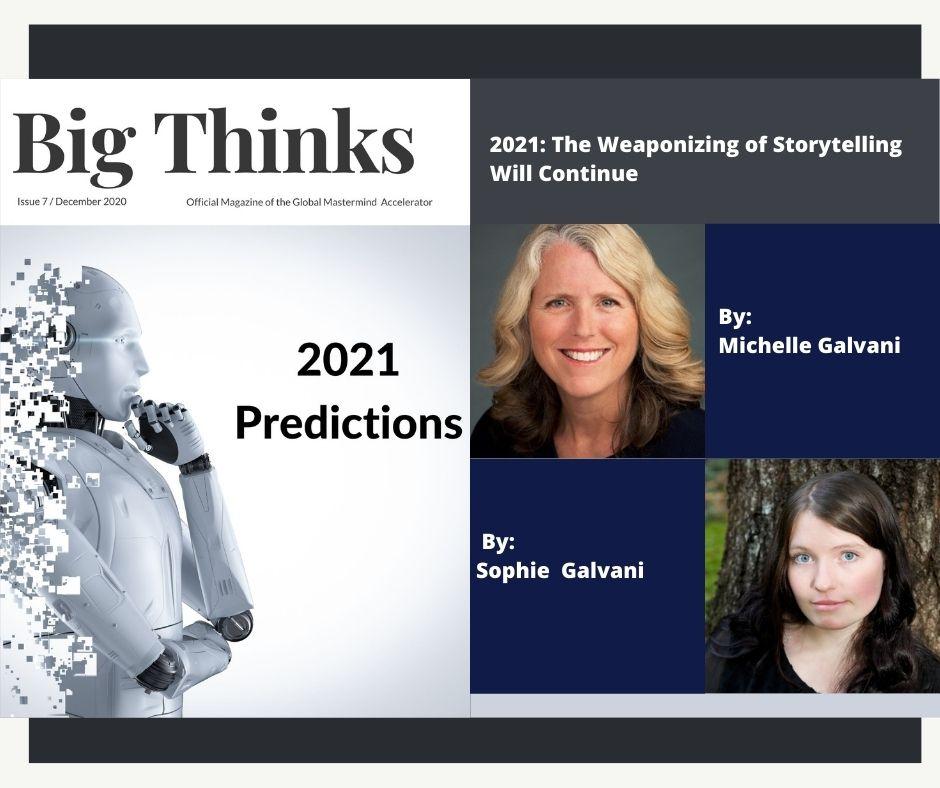 Big Thinks December 2020 Michelle Galvani and Sophie Galvani