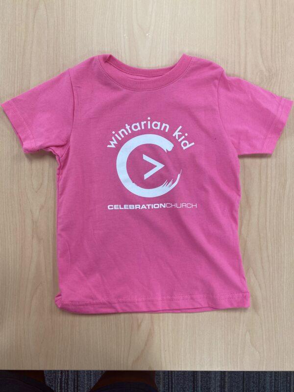 Pink Wintarian_Short_Sleeve_Kit T-Shirt Front
