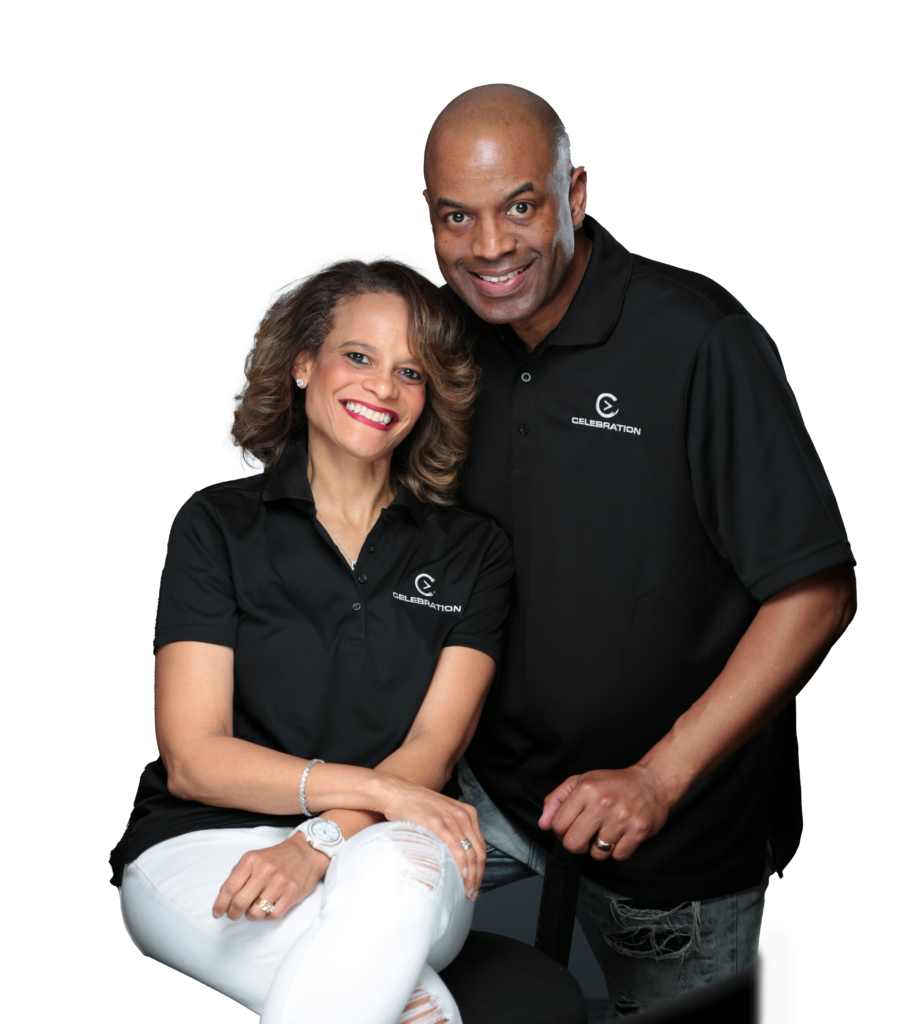 First Lady Robin and Pastor Robbie Picture in Black Polo Shirt