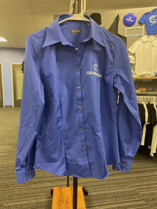 Blue Women Oxford Shirt
