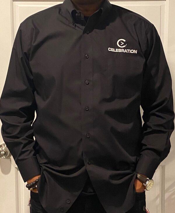Mens Black Oxford Shirt