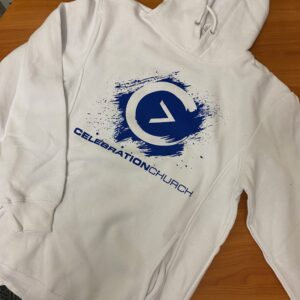 Blue on White Sweatshirt