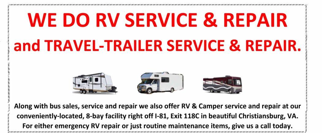 WE DO RV SERVICE