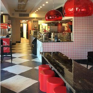 Inside Pastucci's restaurant.