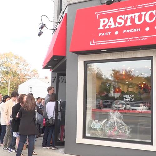Pastucci's storefront.