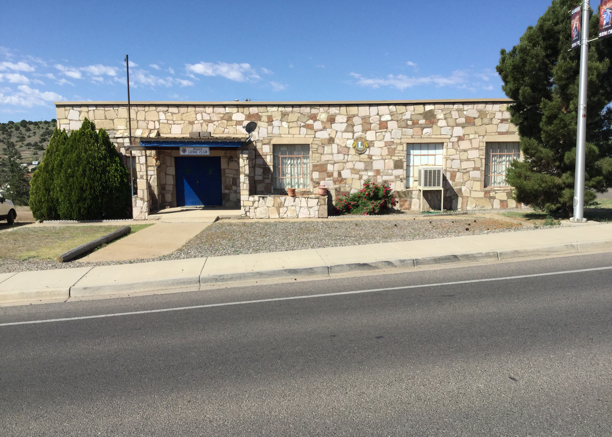 The Lions Club building in Bayard, New Mexico.
