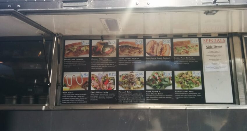 Hungry Nomad Truck Menu