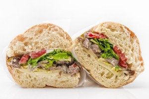 Hungry Nomad Truck Med or Mediterranean Steak Sandwich
