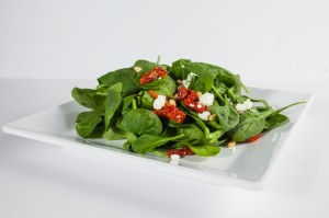 Hungry Nomad Truck Spinach and Goat Cheese Salad