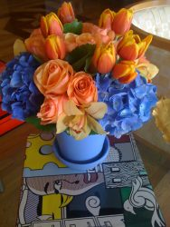 FRESH FLOWERS IN THE HOUSE!