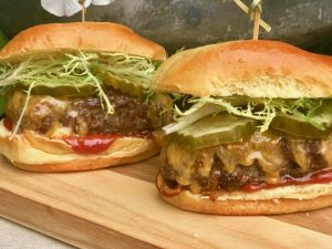MEMORIAL DAY BURGER RECIPE CRISTINA FERRARE