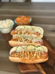 HOT DOGS WITH ONION SAUCE