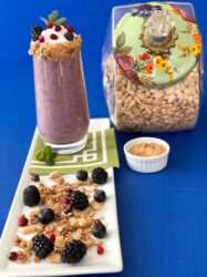 BERRY SMOOTHIE WITH PEANUT BUTTER!