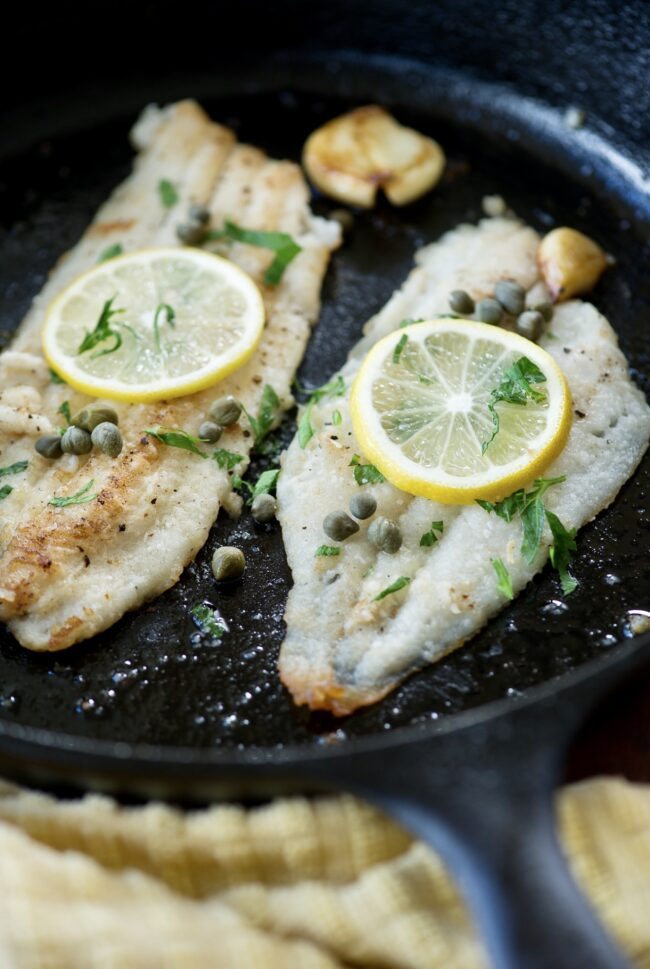 FILLET OF SOLE WITH LEMON AND CAPERS!
