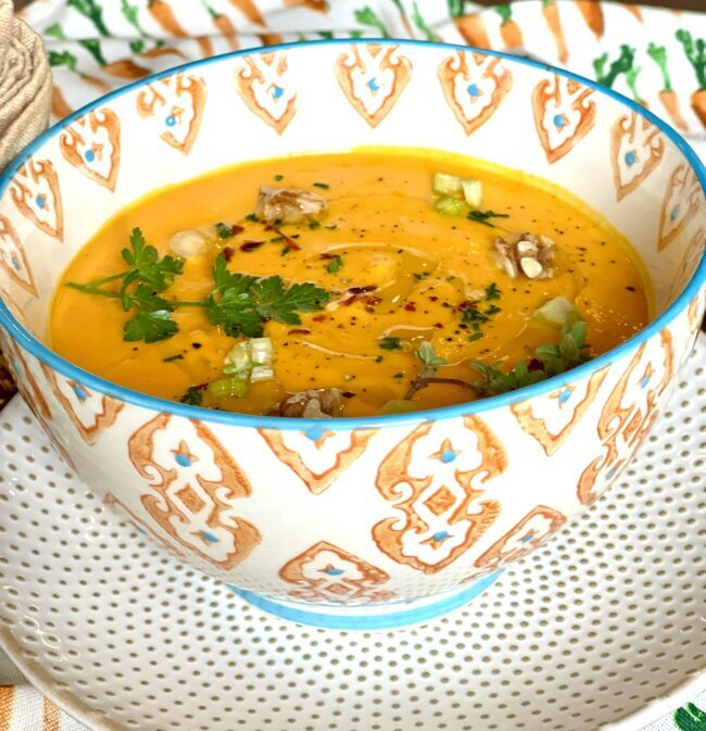 PERFECT FALL SOUP! CREAMY SMOOTH CARROT SOUP!