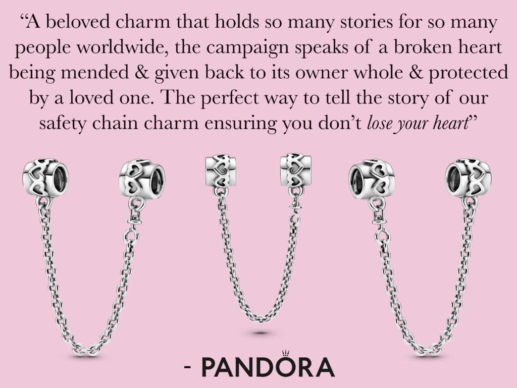 PANDORA 20 | Hearts Safety Chain Charm | My Disney Pet Themed ...