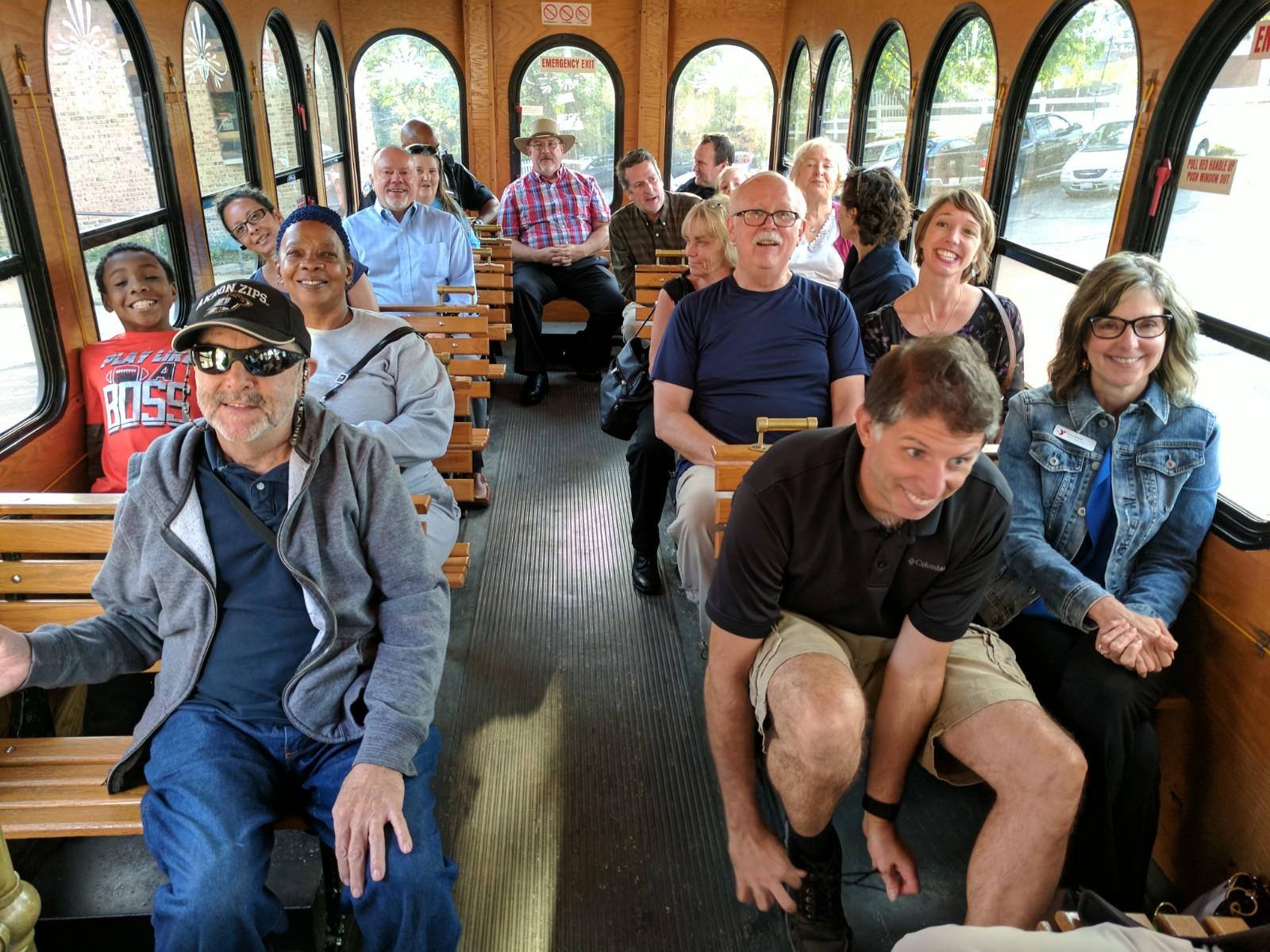 Neighborhood Network meeting trolley tour