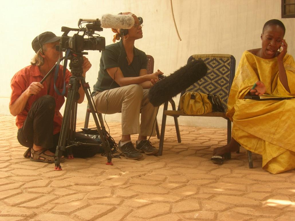 Cinematographer Goran Gester, Laurens Grant and musician Rokia Traore