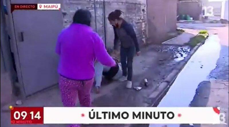 Mujer se desmaya