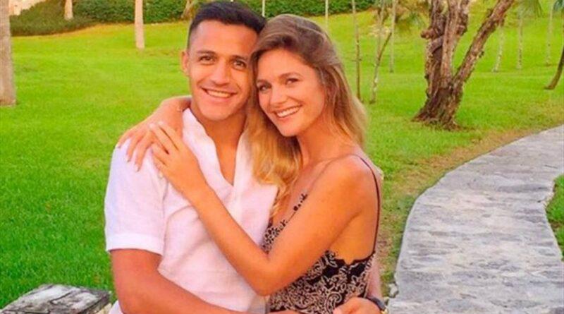 Alexis Sánchez y Mayte Rodríguez