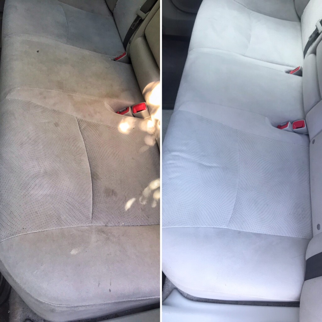 Prius rear seat shampoo