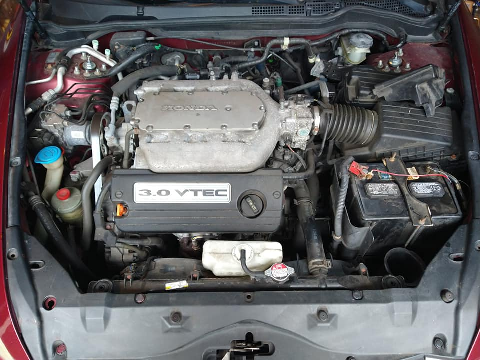 Engine bay cleaning before