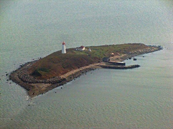 USCG Faulkners Island Aerial 1