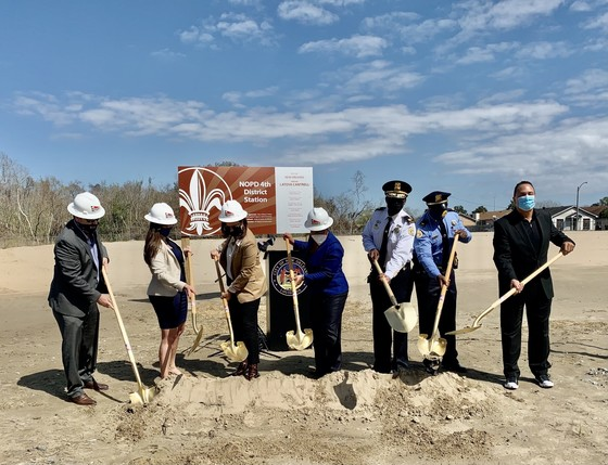 Mayor Cantrell Breaks Ground on $7.7 million NOPD 4th District Station in Algiers