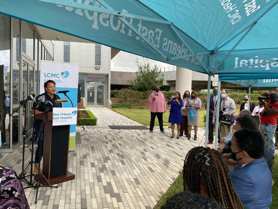 Local, State, Federal Officials Visit New Orleans East Hospital