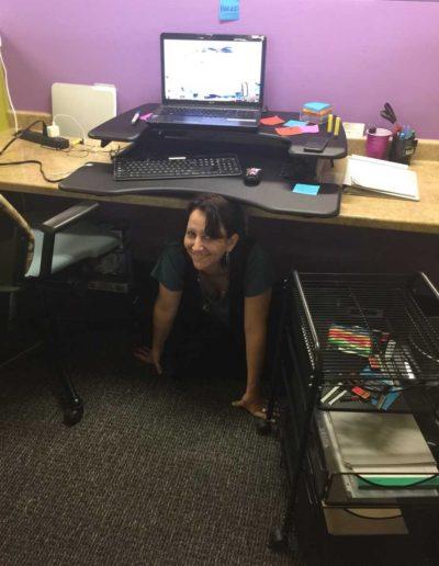 jen mic under desk