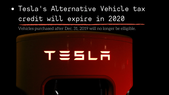 2019 tax changes tesla electric vehicle credit