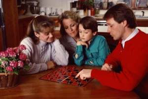 playing board games and other activities as a family can teach sportsmanship. Sibling rivalry can be a healthy way to learn life skills.