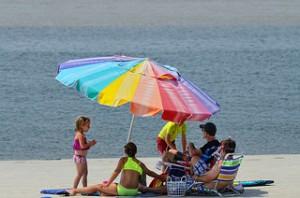 Labor day beach
