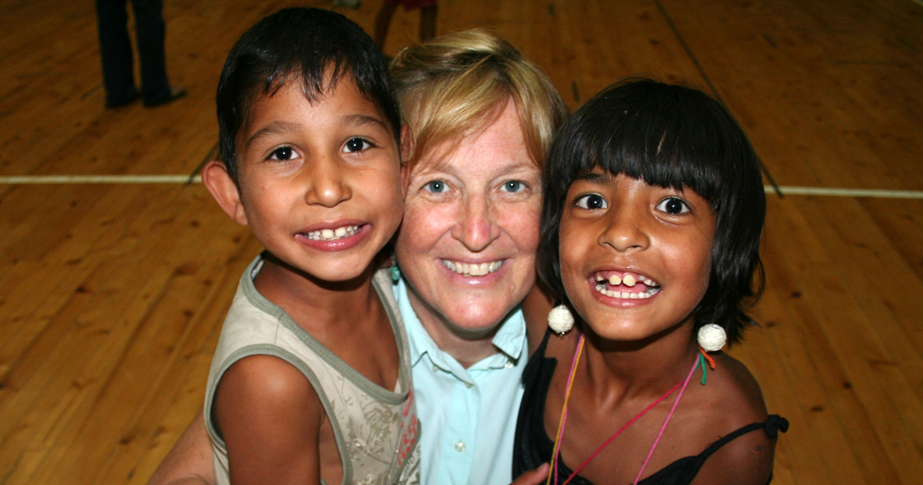 becky with kids from tran