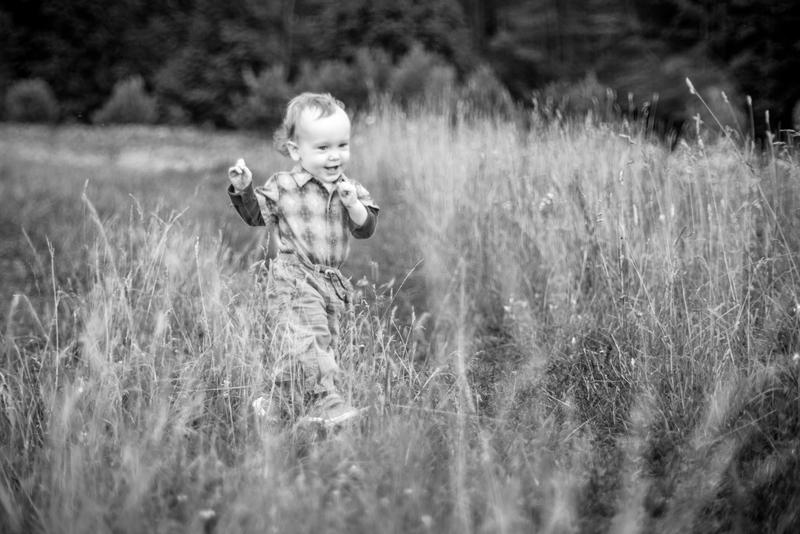 Picture of toddler walking in field