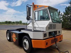 Orange EV Pure-Electric Terminal Truck