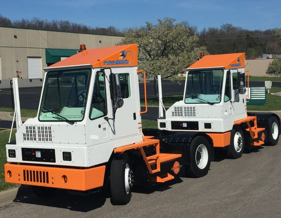 Orange EV Pure Electric Terminal Trucks 13