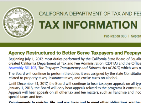 California Tax Update 11/1/2017