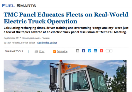 TMC Panel Article from HDT Truckinginfo