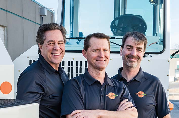 Orange EV is featured in the March 2018 issue of Thinking Bigger Business. Photo courtesy of ithinkbigger.com