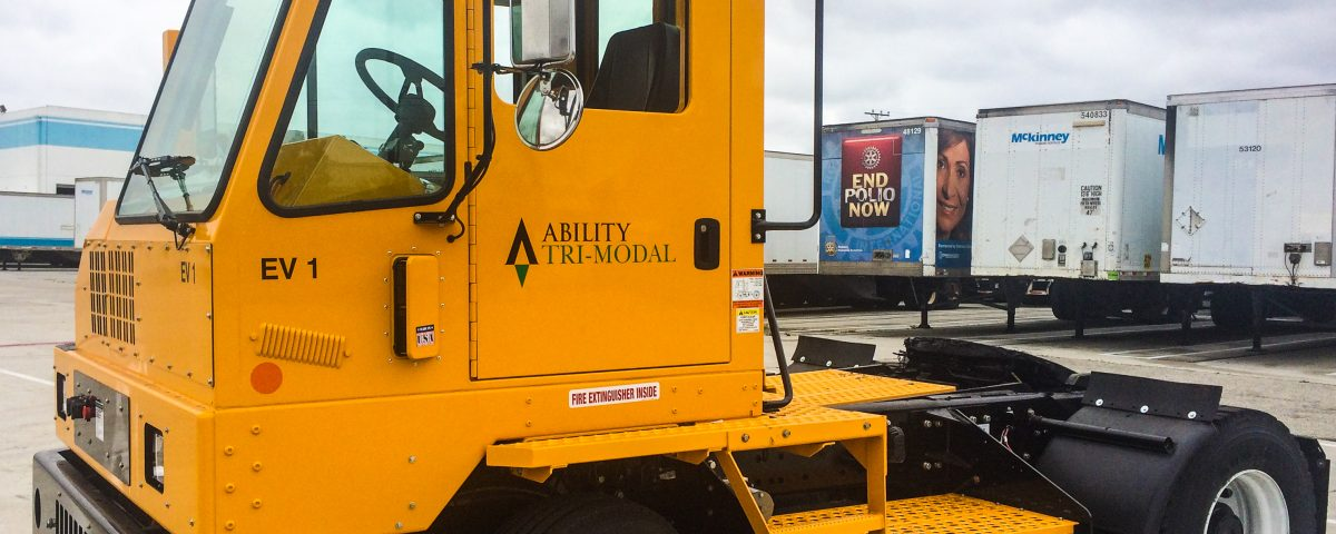 Ability Tri-Modal deploys five (5) Orange EV pure-electric terminal trucks