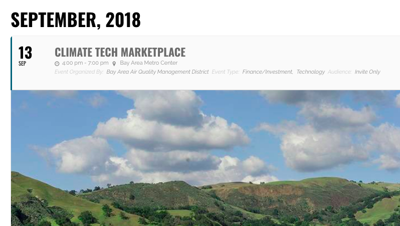 Orange EV will exhibit at the Climate Tech Marketplace 2018