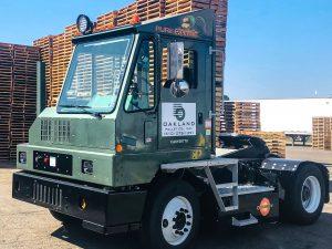 Oakland Pallet's Orange EV Pure Electric Terminal Truck