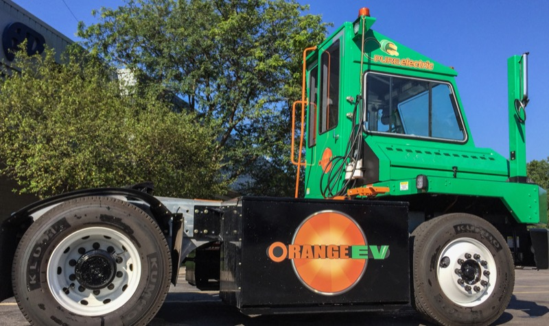 Orange EV Pure Electric Terminal Truck 10c