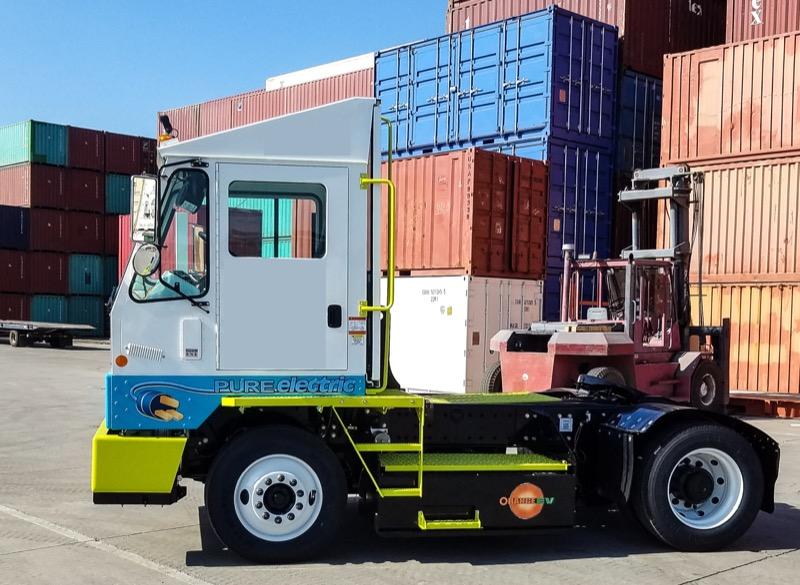 Orange EV Pure Electric Terminal Truck 16c