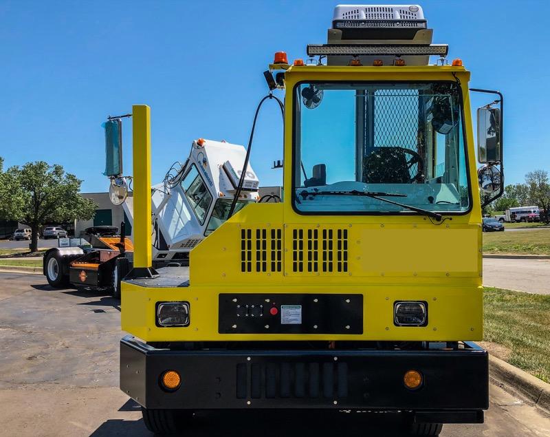 Orange EV Pure Electric Terminal Truck 4c