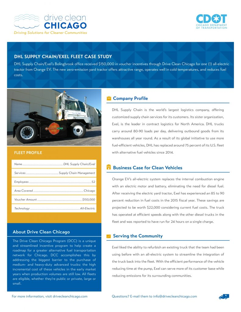Orange EV DHL Supply Chain/Exel Fleet Case Study