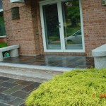 Slate Front Steps with Slate Walkway