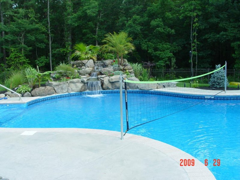 Stamped Concrete Pool Surround